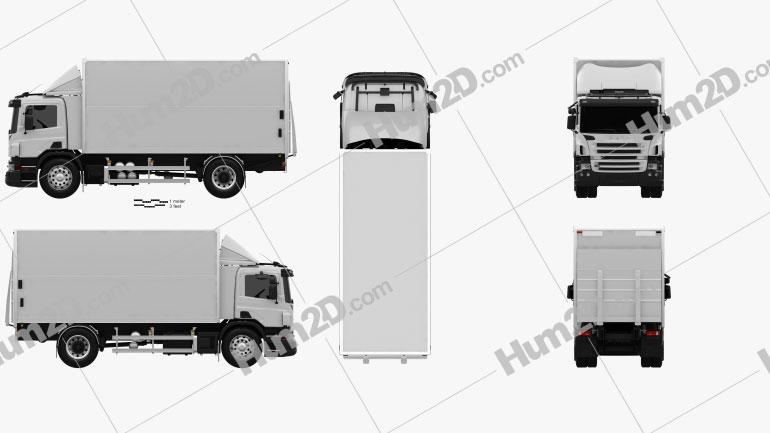 Scania P Box 2011 Clipart Image