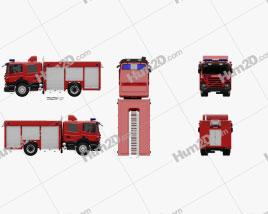 Scania P Fire Truck 2011 clipart