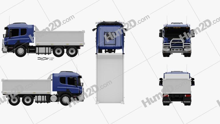 Scania R 420 Tipper Truck 2004 Clipart Image
