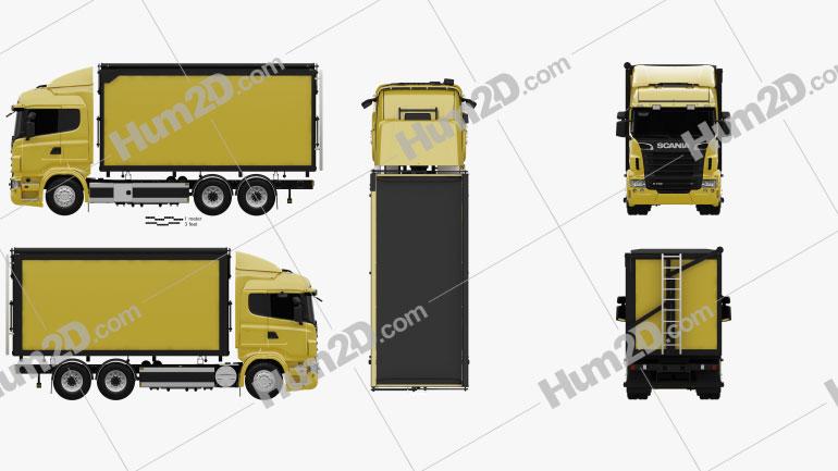 Scania R 730 Box Truck 2010 clipart