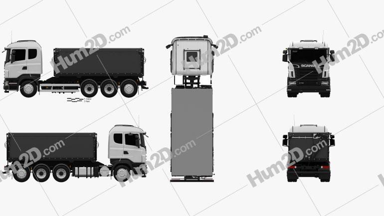 Scania R 730 Tipper Truck 2010 clipart