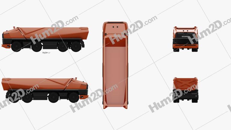 Scania AXL Dump Truck 2019 Clipart Image