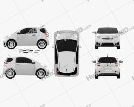 Scion iQ 2012 car clipart