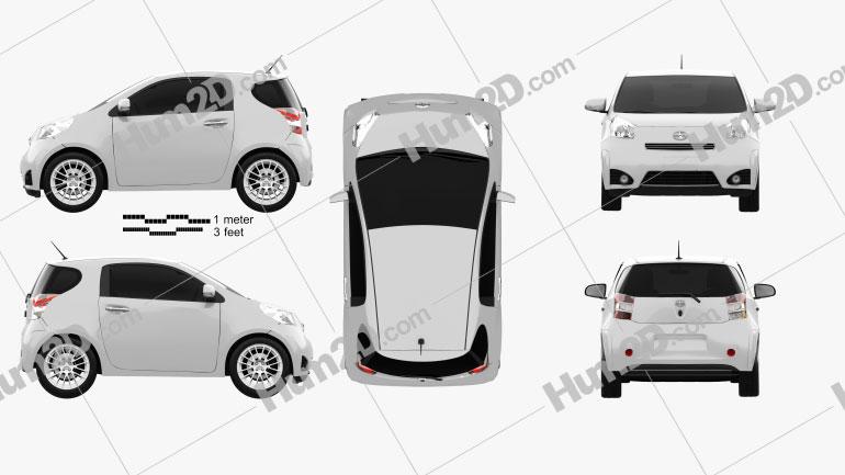 Scion iQ 2012 Clipart Image