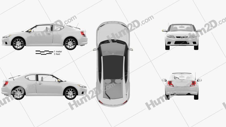 Scion tC 2012 car clipart