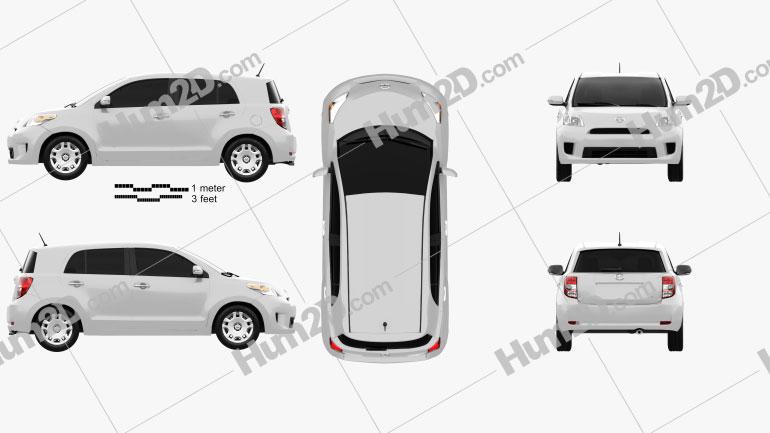 Scion xD 2012 clipart