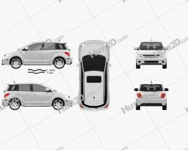 Scion xA 2006 car clipart
