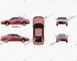 Scion tC 2014 car clipart