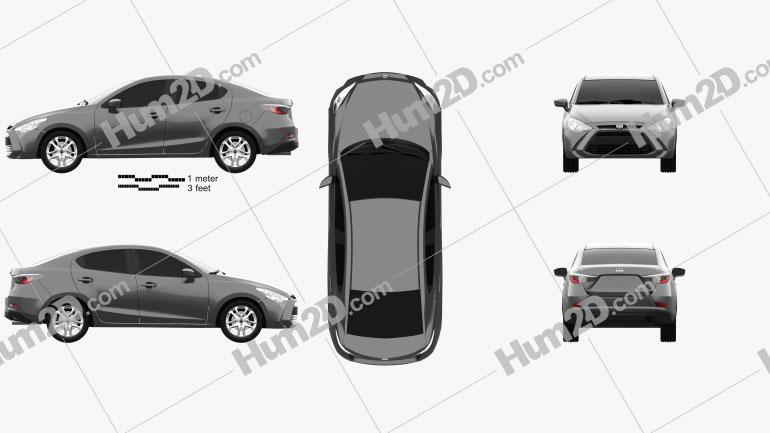 Scion iA 2016 car clipart