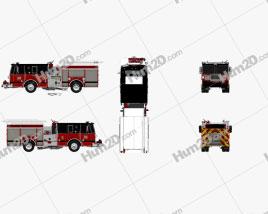 Seagrave Marauder II Fire Truck 2014 clipart