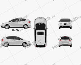 Seat Altea 2010 car clipart