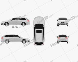 Seat Exeo Tourer 2009 car clipart