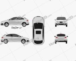 Seat Ibiza Sport Coupe 3-door 2011 car clipart