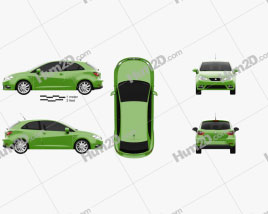Seat Ibiza SC 2013 car clipart