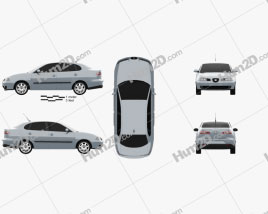Seat Cordoba 2009 car clipart
