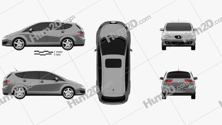 Seat Altea XL 2009 Clipart Bild
