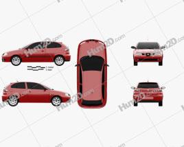 Seat Ibiza 3-door 2002 car clipart