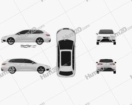 Seat Leon ST Cupra 280 2015 car clipart