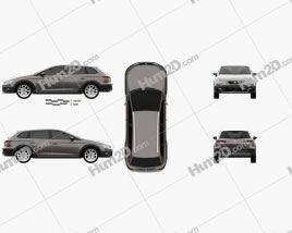 Seat Leon ST X-Perience 4Drive 2015 car clipart