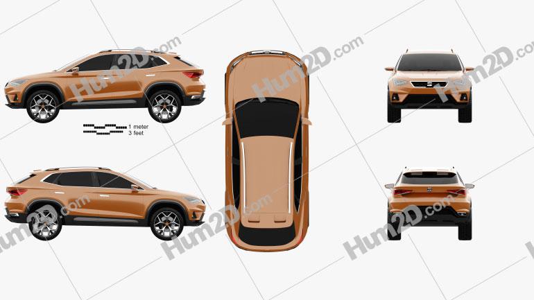 Seat 20V20 2015 car clipart