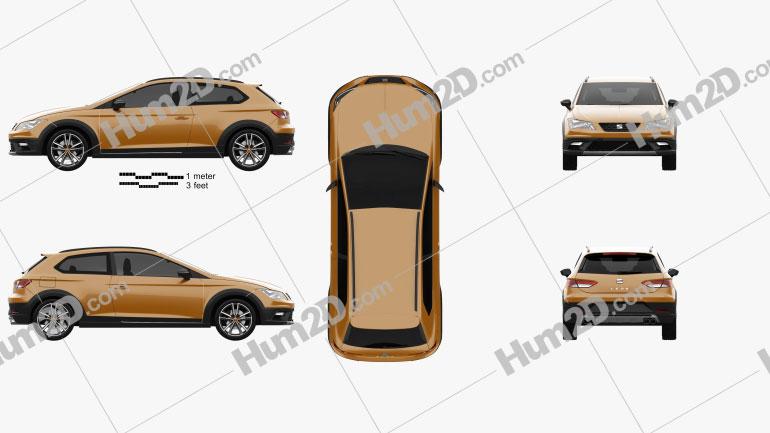 Seat Leon Cross Sport 2015 car clipart
