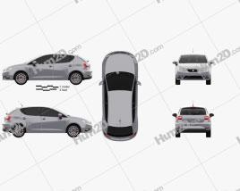Seat Ibiza 5-türig Schrägheck 2015 car clipart