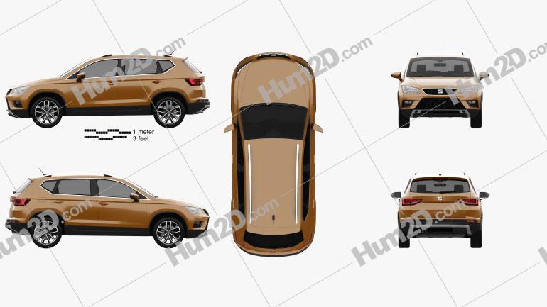 Seat Ateca 2017 car clipart