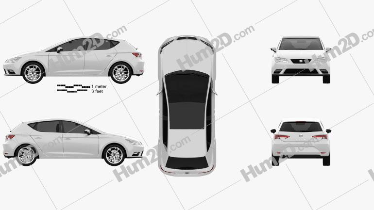 Seat Leon 2012 car clipart