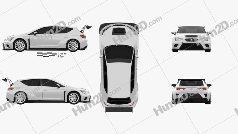 Seat Leon Cup Racer 2014 car clipart