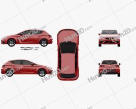 Seat Leon FR 2016 car clipart