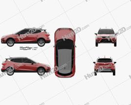 Seat Arona FR 2017 car clipart