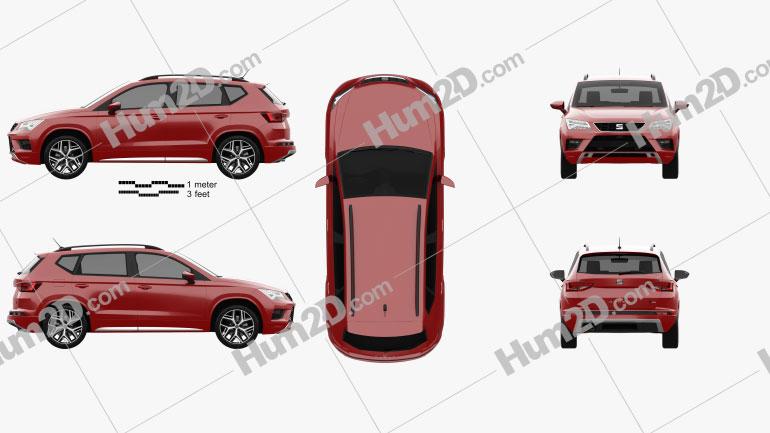 Seat Ateca FR 2018 car clipart