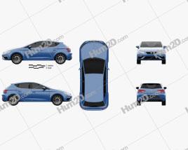 Seat Leon Cupra 300 2017 car clipart