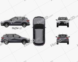 Seat Ateca Cupra 2018 car clipart