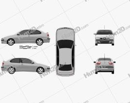 Seat Cordoba Cupra 2000 car clipart
