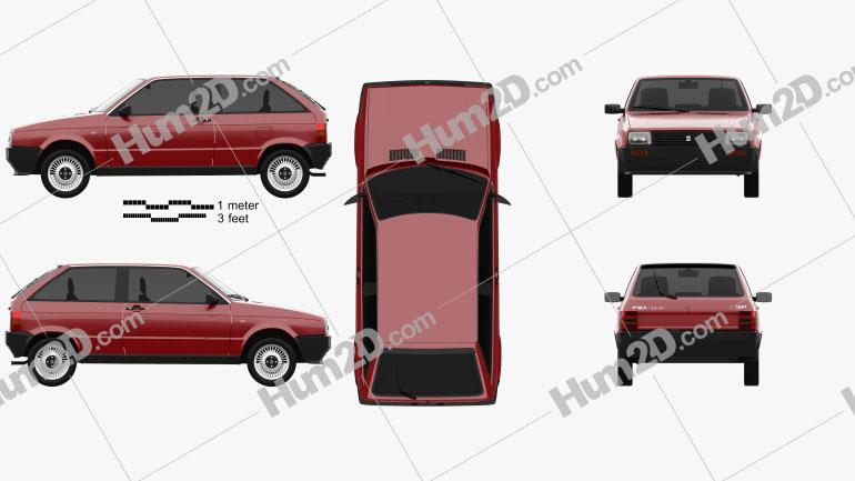 Seat Ibiza 3-door 1984 car clipart