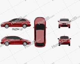 Seat Ibiza ST FR 2015 car clipart