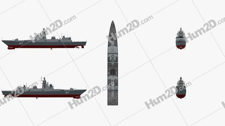 Admiral Gorshkov-class frigate Ship clipart