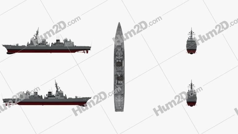 Akizuki-class destroyer Ship clipart