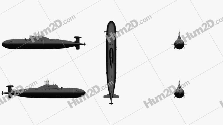 Akula-class Soviet/Russian Navy Nuclear submarine