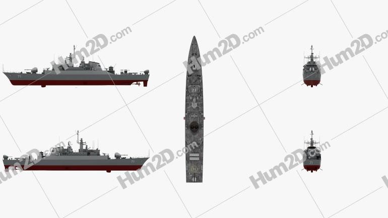 Alvand-class frigate Clipart Image