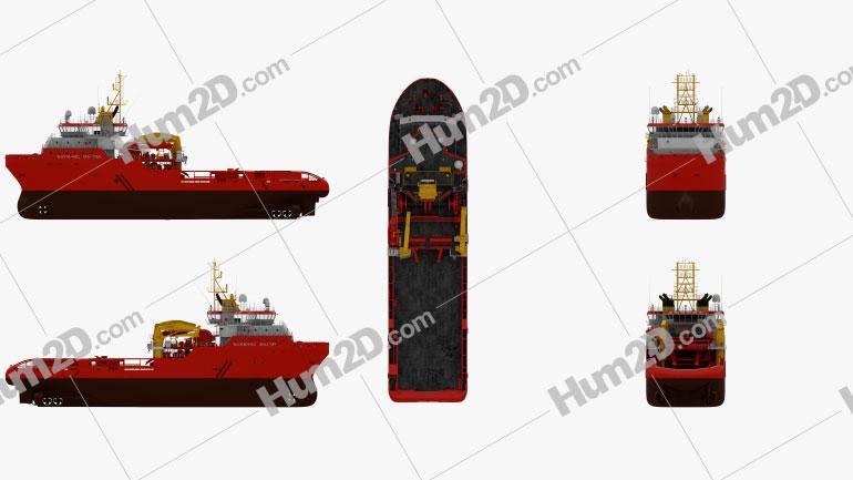 Anchor handling tug supply vessel Ship clipart