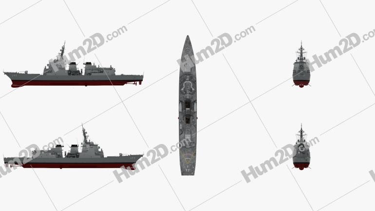 Atago-class destroyer Ship clipart