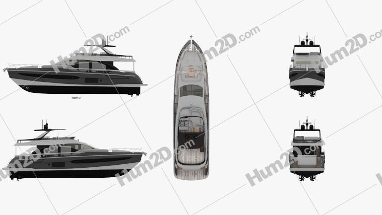 Azimut 78 Ship clipart