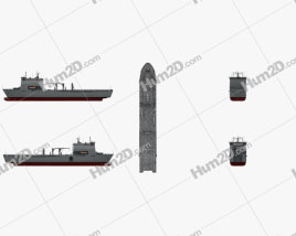 Bay-class landing ship Clipart