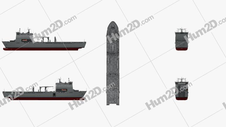 Bay-class landing ship Ship clipart