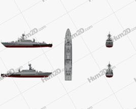 Buyan-M-class corvette Schiffe clipart