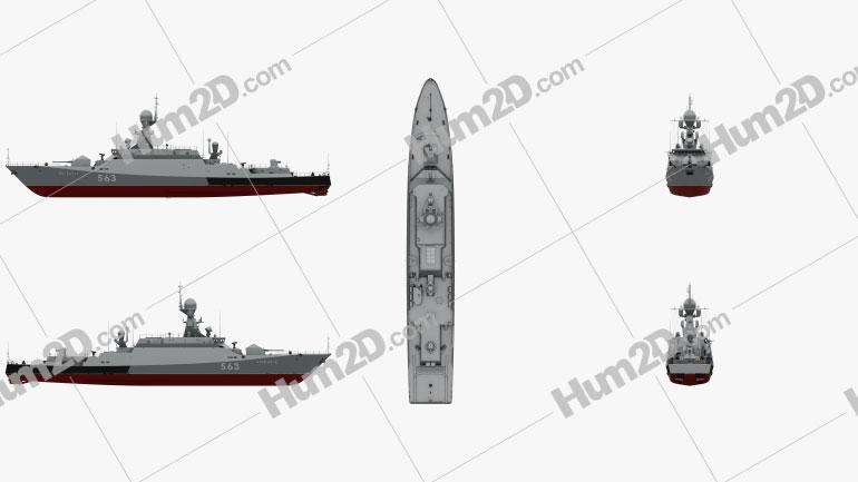 Buyan-M-class corvette Ship clipart