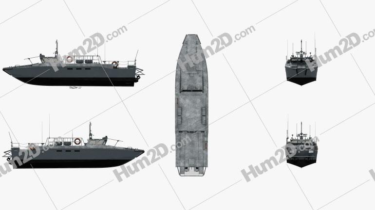 CB90-class fast assault craft Ship clipart