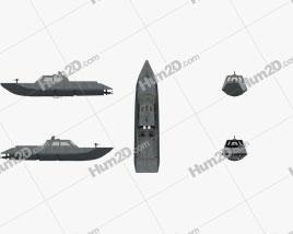 Combatant Craft Medium Mk1 Ship clipart